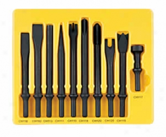 10 Pc. Air Cut Set With .401'' Shanks