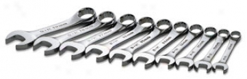 10 Piece Superkrome Metric Short Combination Wrest Set