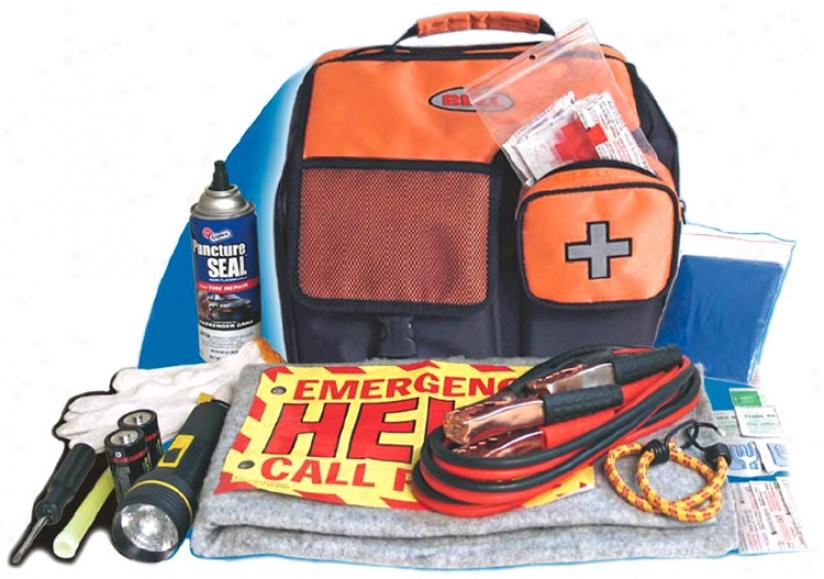 100 Piece Roadside Emergency Safety Kit