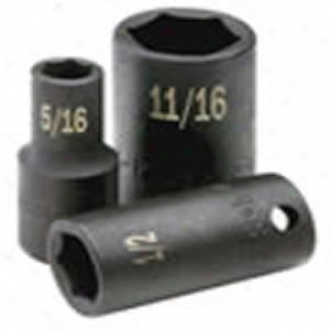 1/2'' Drive, 6 Point Stanfard Fractional Impact Socket - 5/8''