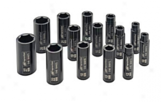 1/2'' Drive Deep Metric Set - 14 Piece
