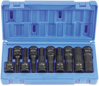 1/2'' Drive Impact Hex Driver Value - 10 Piece