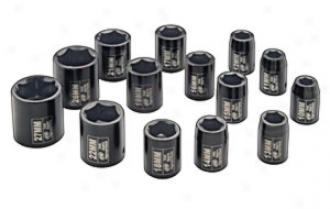 1/2'' Drive, Standard Length Metric Impact Socket Set