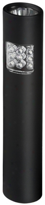 12 Led Black Dual-mode, Multi-purpose, Slim-line Flashlight/floodlight