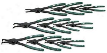 12 Piece Utility Grade Convertibe Retaining Ring Pliers Set