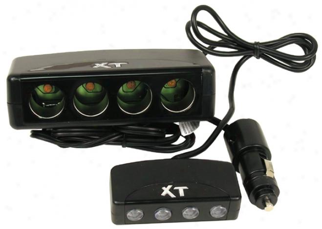 12 Volt 4 Splktter Socket Adapter