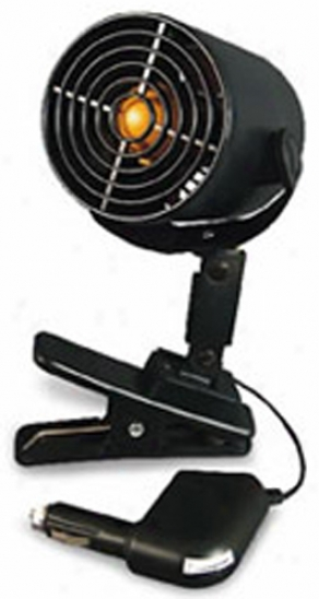 12 Volt ''tornado Fan'' With Removable Mounting Clip