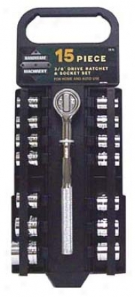 15 Pc Glove Compar5ment Socket Set