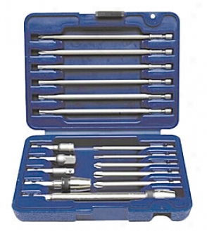 16 Pc. Fastener Driver Quick Change Bit And Accessory Set
