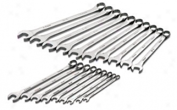 19 Piece Superkrome Metric Long Pattern Combination Wrench Set