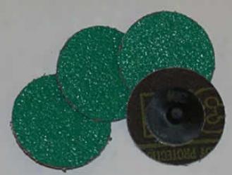 2'' Roloc 50 Grit Grinding Discs - 25 Pk. (green)