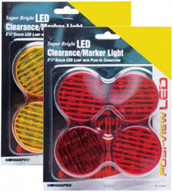 2?'' Sealed Round Led Clearance/marker Lights (4 Pack)