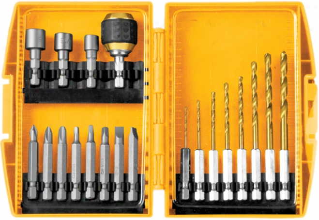 20 Piece Quick Change Drill & Drive Bit Set