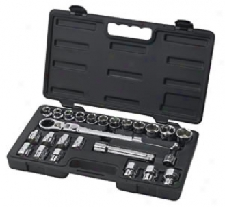25 Piece 1/2'' Drive (30mm Vortex) Ratchet Set