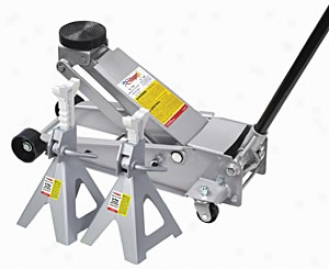 3-1/2 Ton Service Jacj With 6-ton Jack Stands