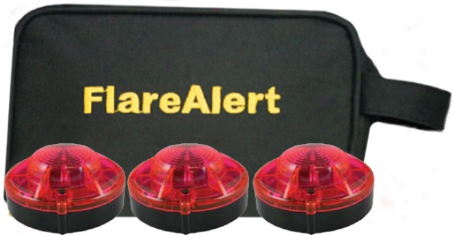 3 Flare Alert Ld Emergency Beacon Pro's With Storage Bag