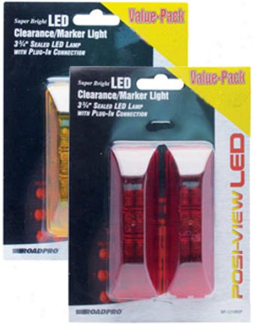 3?'' Led Sealed Clearance/marker Lights (2 Pack)