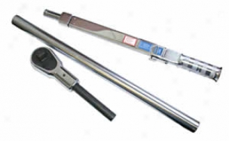3/4'' Dr. Split Beam Click Type Torque Wrench With Detacheable Ratchet Head - 200-600 Lb. Ft.