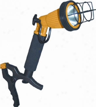 35 Watt Hand Held Halogen Work Light By the side of Clamp