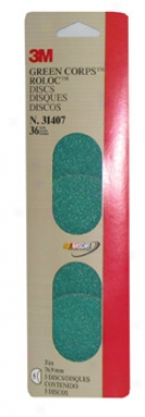 3m Green Corps Roloc Discs - Grade 36