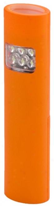4/6 Led Orange Dual-mode, Multi-purpose, Slimm-line Flashlight/floodlight
