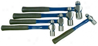 5 Pc. Ball Pein Hammer Set With Fiberglass Handles