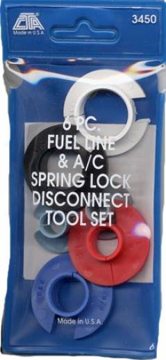 6 Pc Firing De~ate And A/c Spring-lock Disconnect Tool Set