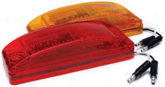6'' Single Led Marker Lights With Replaceable Lens