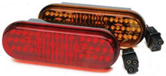 6?'' Single Led Sealed Oval Marker Lights