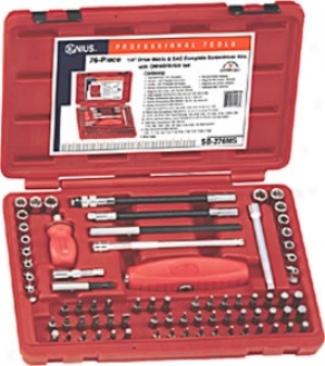 76 Piece Metric And Broken Complete Screwdriver Bits With Omnidrive Set