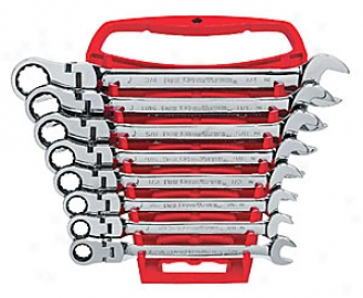 8 Piece Fractional Flex Head Gearwrench Set