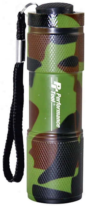 9 Bulb Led Pocket Camo Flashlight