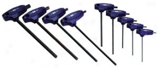9 Piec eFractional T-handle Hex Key Set