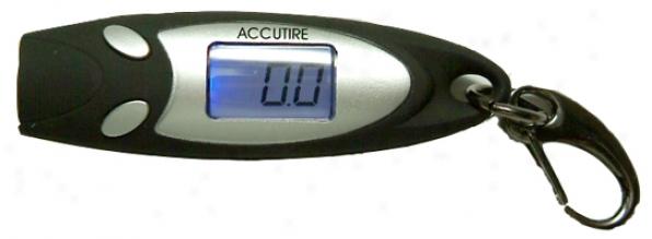 Accutire Blue Backlight Digital Tire Gauge Keychain