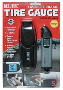 Accutire Flashlight Digital Tire Gauge