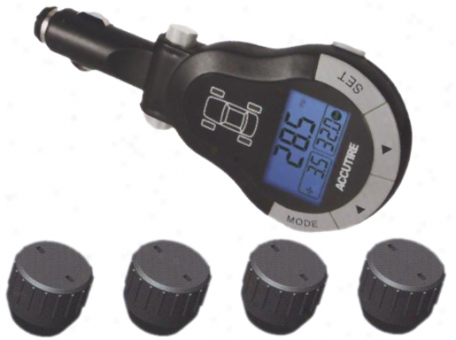 Accutire Wireless Rf Digital Tire Pressure Masuring System