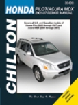 Acura Mdx & Honda Pilot Chilton Manual (2003-2007)