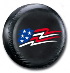 American Flag Spar eTire Cover