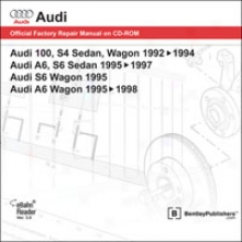 Audi 100/a6/s6 Repair Manual On Cd-rom (1992-1998)