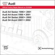 Audi A4/s4 Repair Manual On Cd-rom (1996-2002)