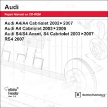 Audi A4/s4 Repir Manual Attached Cd-rom (2002-2007)