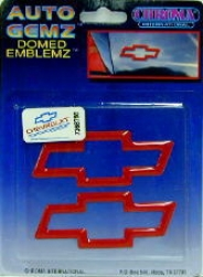 Auto Gemz Small Red Chevrolet Logo Domed Emblemz (2)