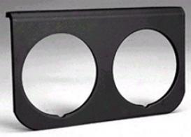 Auto Meter 2-1/16 Inch 2-hole Black Aluminum Gauge Panel