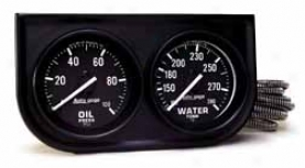 Auto Meter Autogage 2'' Two-gauge Console (oil/water)