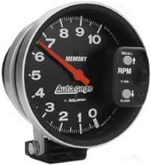 Auto Meter Autogage 5'' Pedestal Mount Memory Tachometer