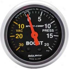 Auto Meter Mini 2 1/16''' Sport-comp Boost/vac Gauhe