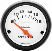 Auto Meter Phantom 2-1/16'' Eoectrical Voltmeter Gauge
