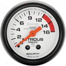 Auto Meter Phantom 2-1/16'' Mechanical Nitrous Pressure Gauge