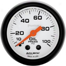 Auto Meter Phantom 2-1/16'' Mechanical Oil Pressure Gauge