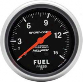 Auto Meter Sport-comp 2-5/8'' Fuel Pressure Gauge